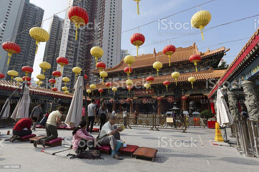 Wong Tai Sin Temple in Hong Kong royalty-free stock photo