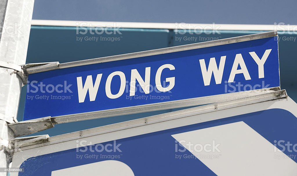 Wong Way stock photo