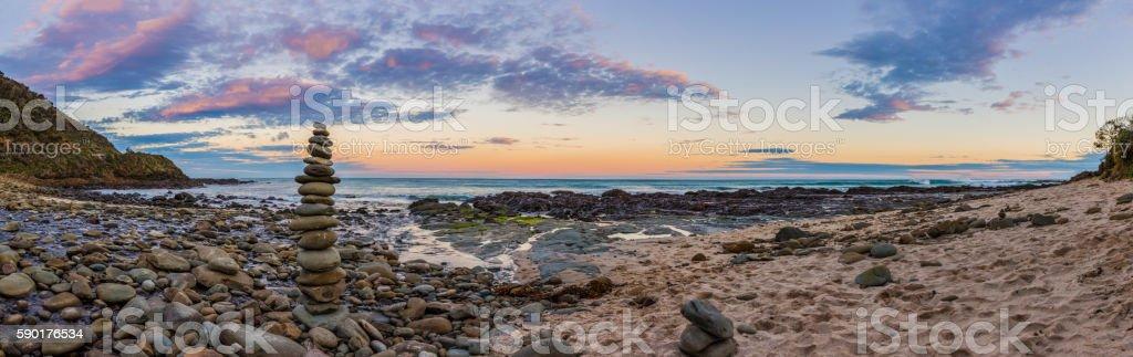 Wongarra Pebble Beach, Great Ocean Road stock photo