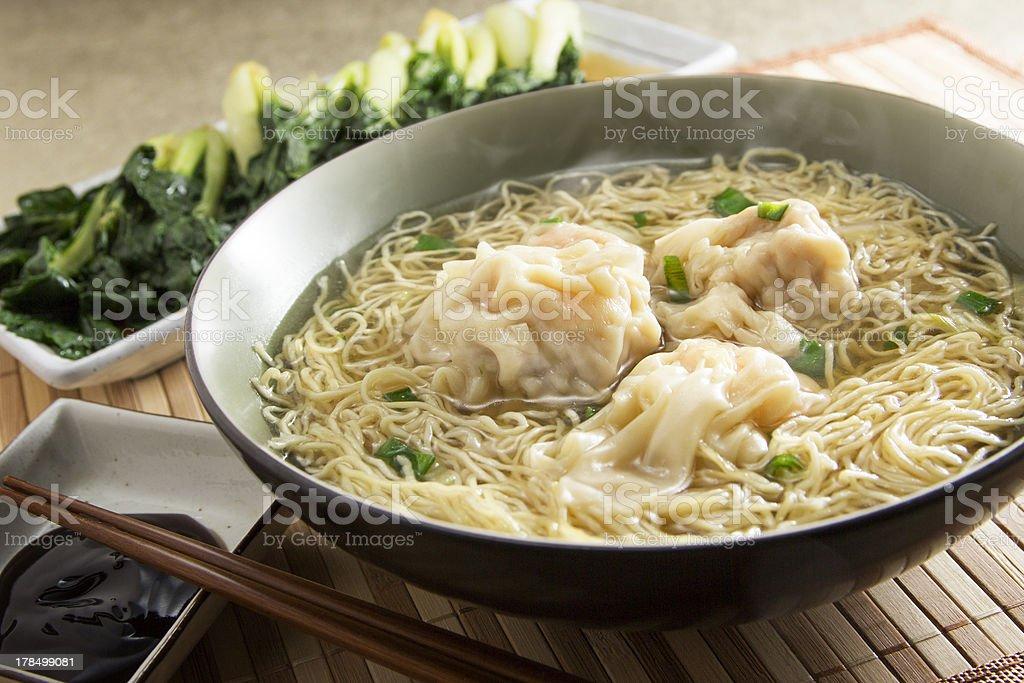 Wonton Noodle stock photo
