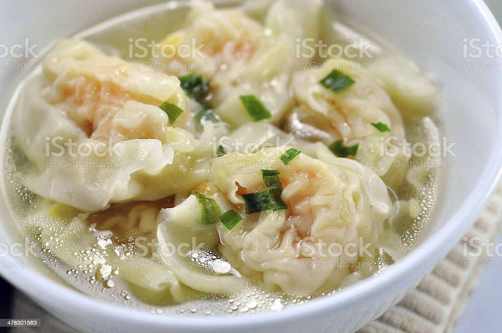 wonton soup stock photo