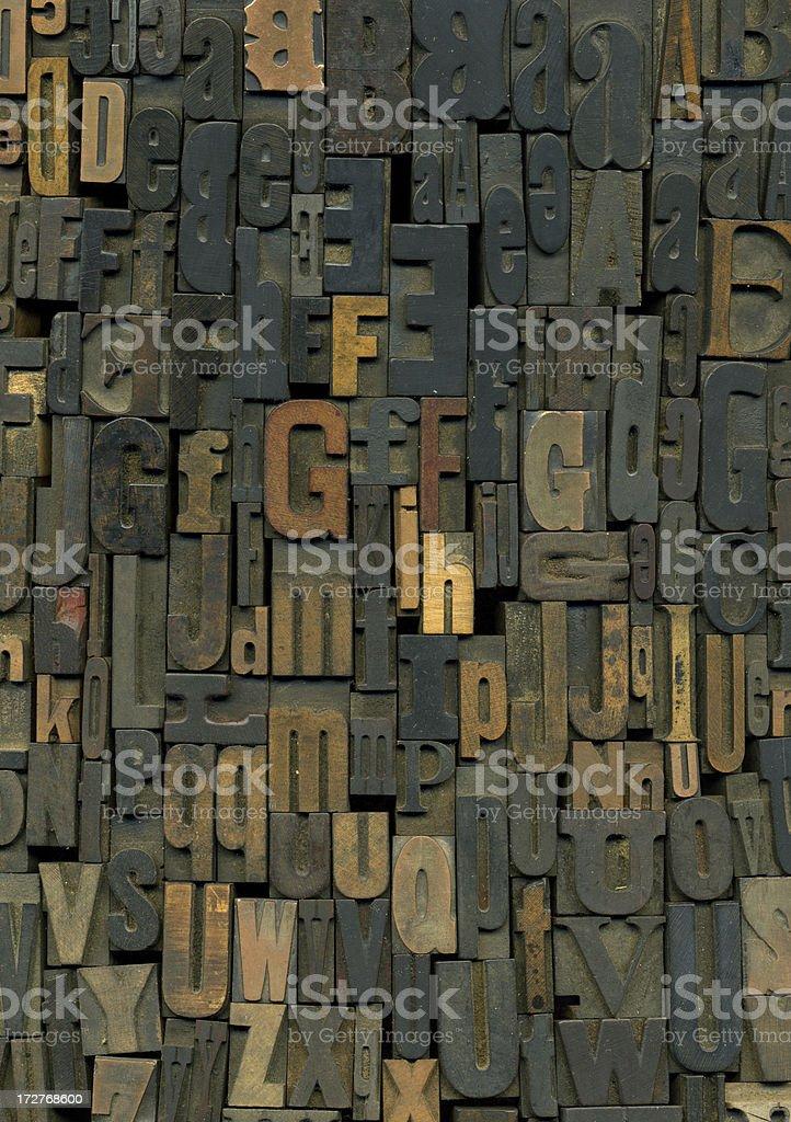 Wood Alphabet royalty-free stock photo