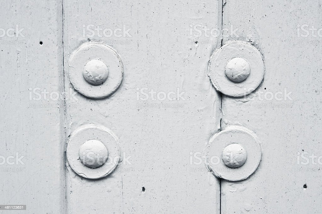 Wood and bolts royalty-free stock photo