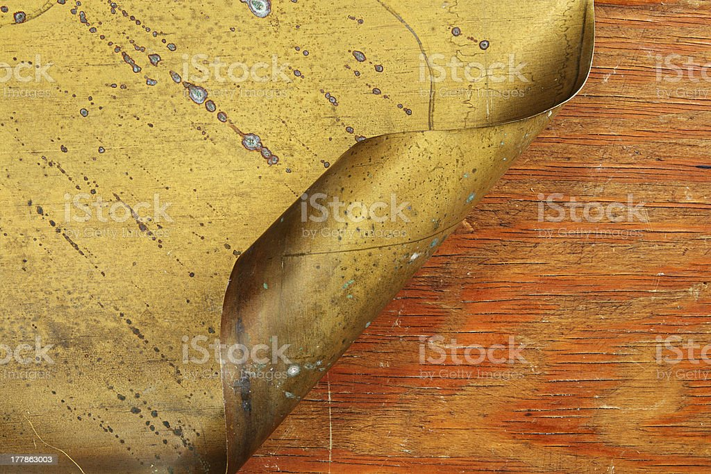 Wood and brass royalty-free stock photo