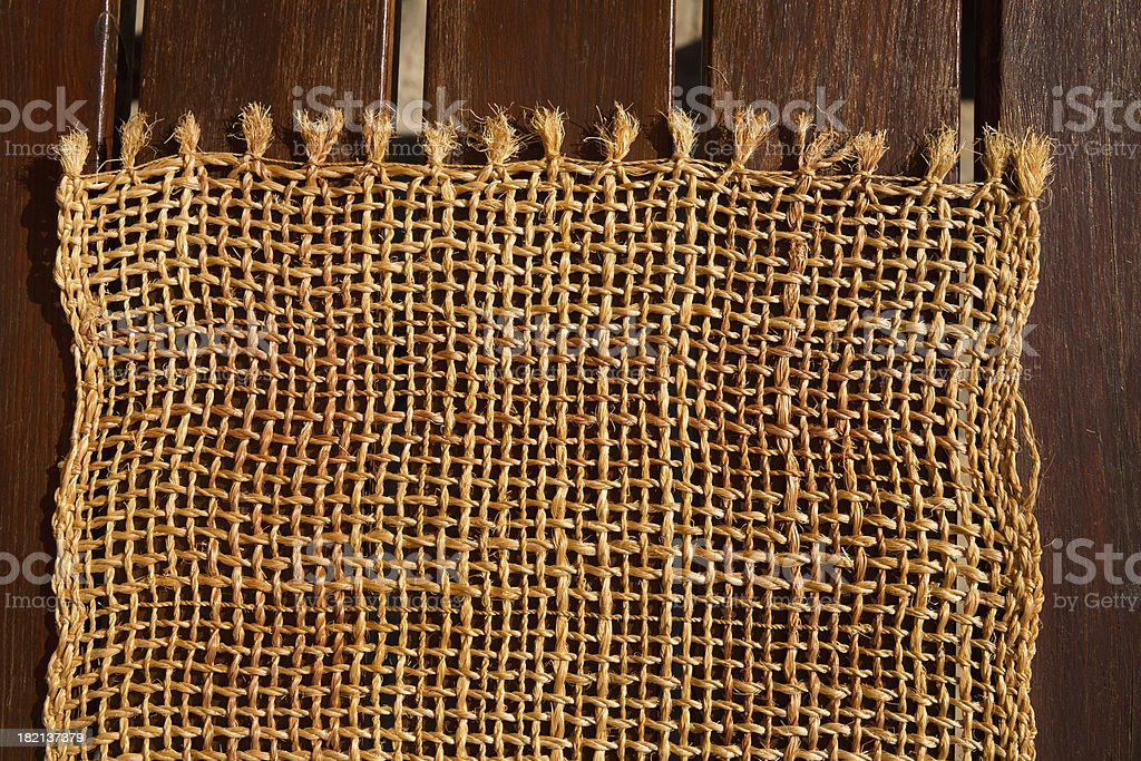 Wood and jute royalty-free stock photo