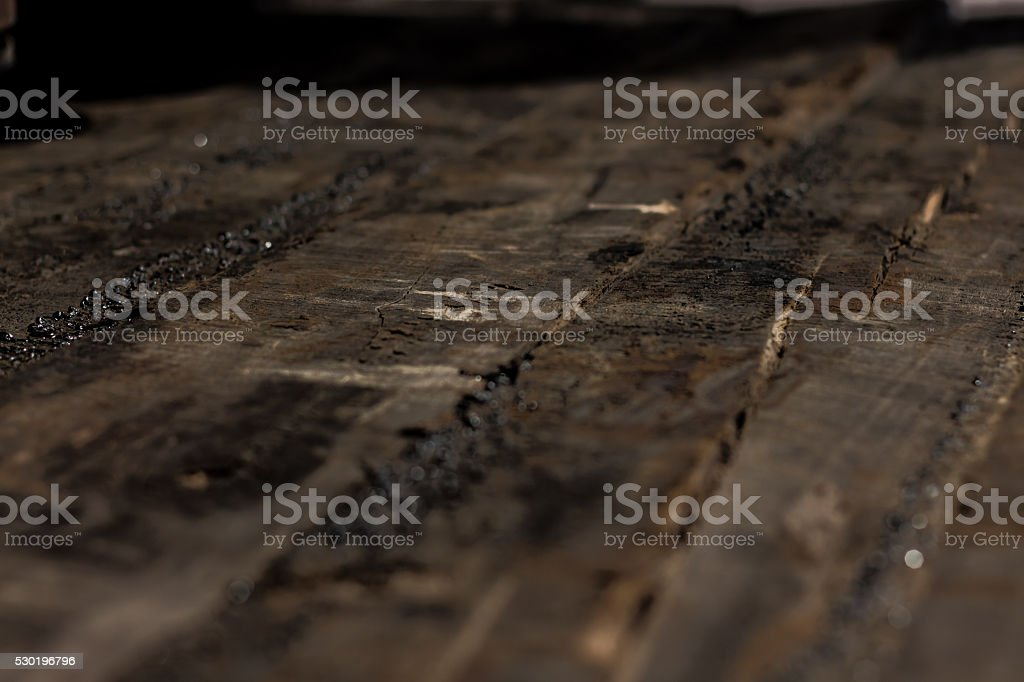 wood and oil stock photo