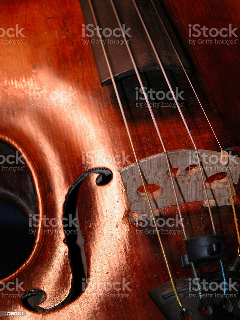 Wood and Strings royalty-free stock photo