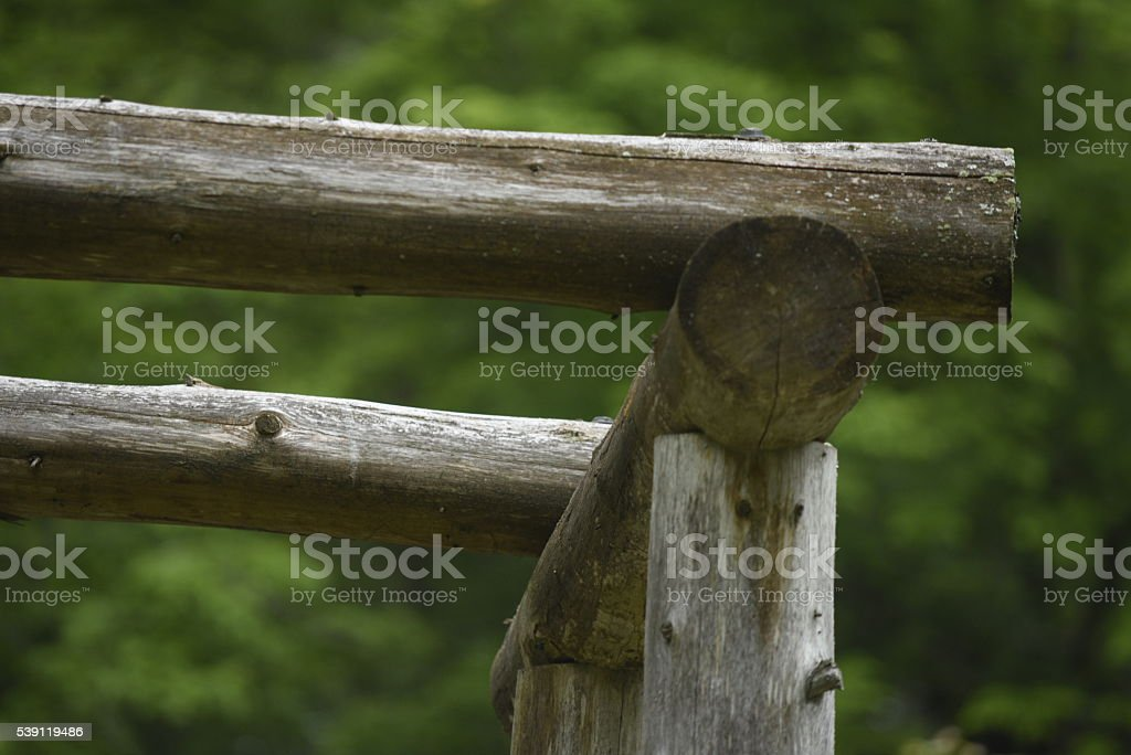 wood arch in peaceful stock photo