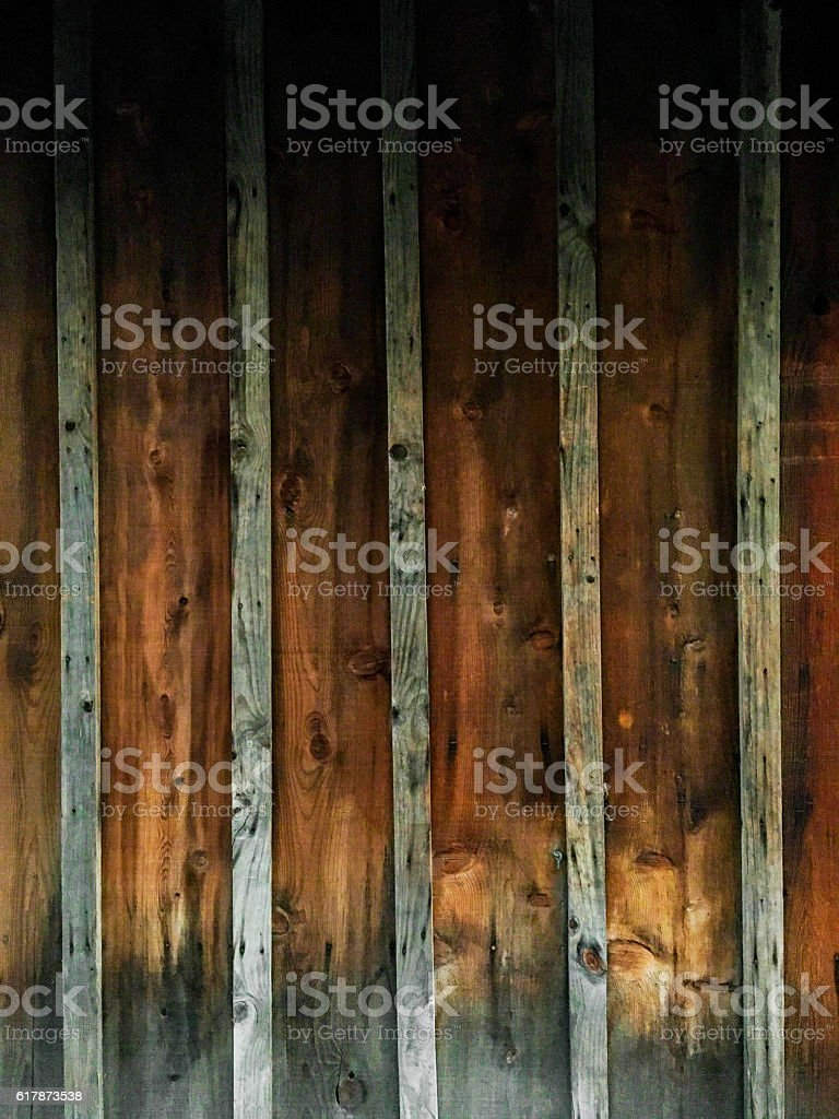 Wood background with vertical planks stock photo