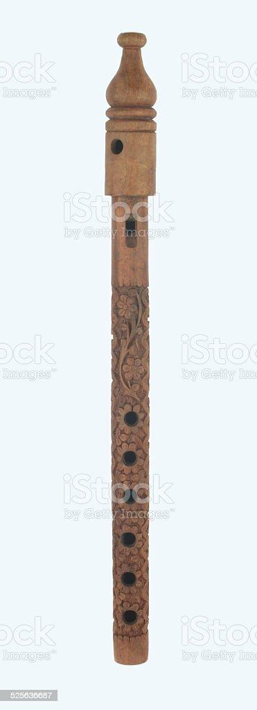 Wood bansuri flute stock photo