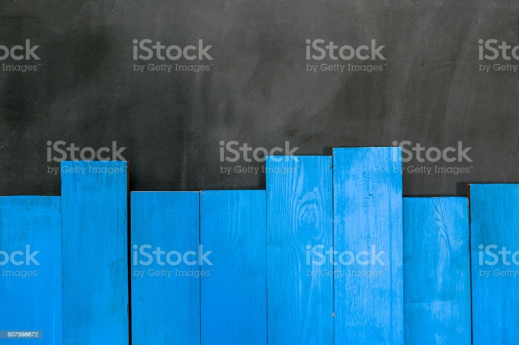 Wood Bars On The Blackboard stock photo