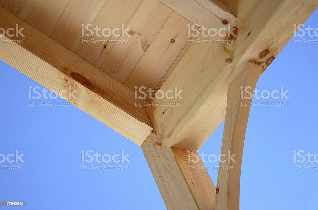 wood beam detail royalty-free stock photo