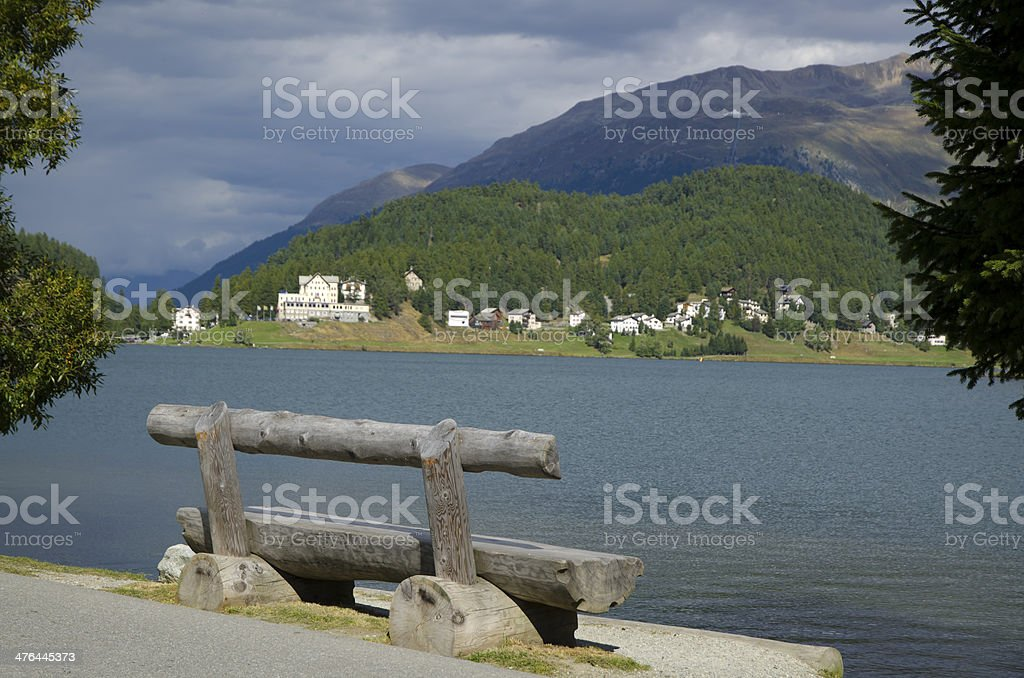 Wood bench royalty-free stock photo
