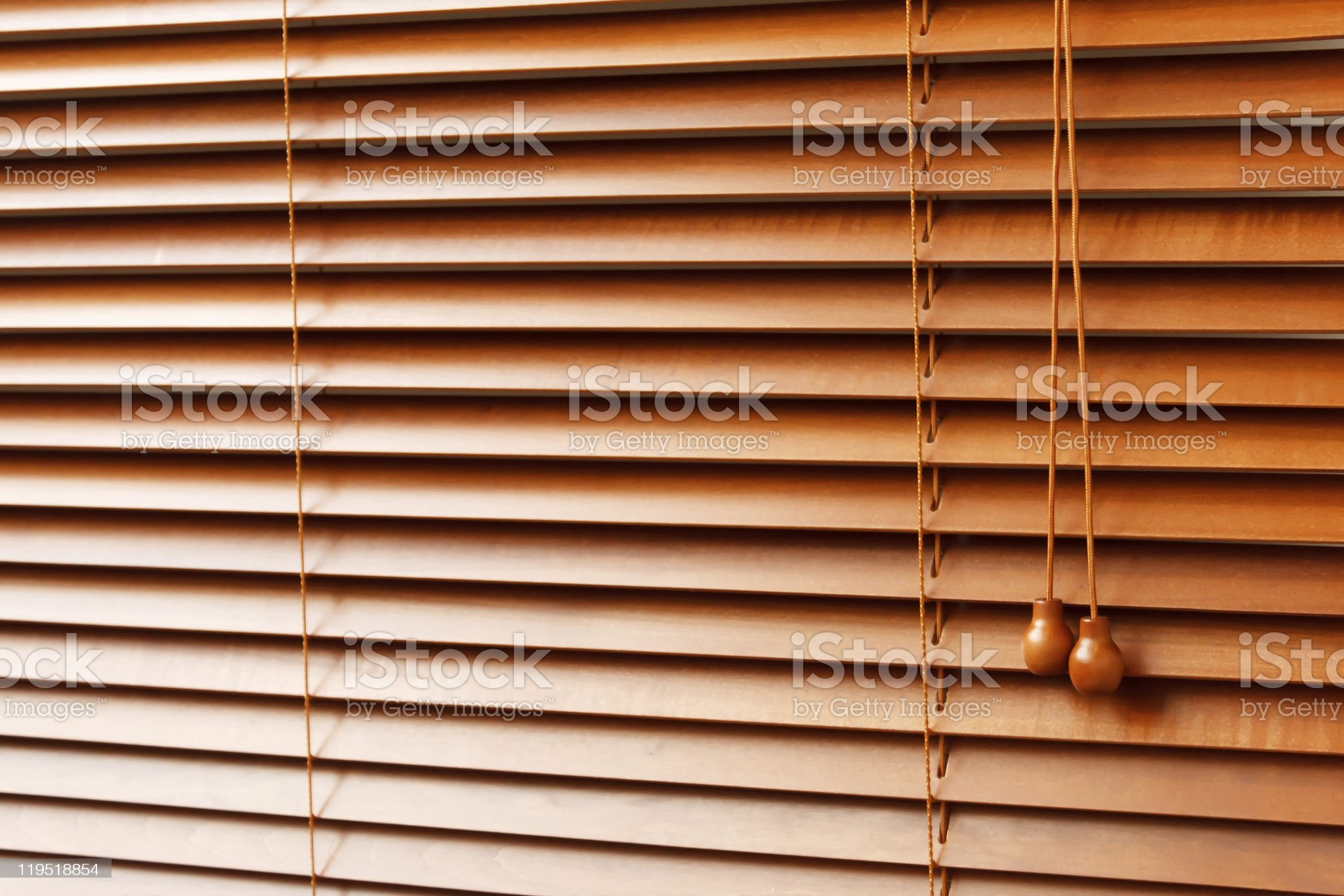 Wood Blinds royalty-free stock photo