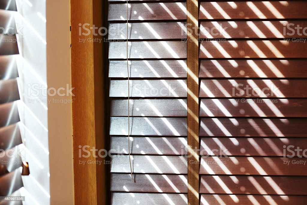 Wood Blinds stock photo