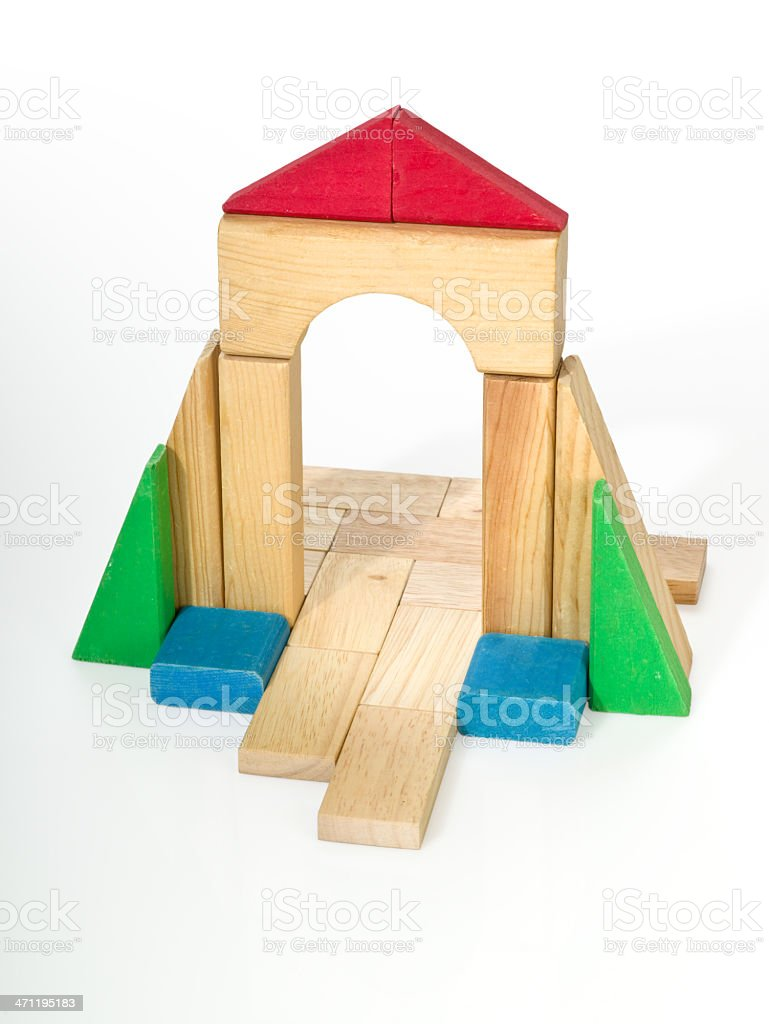 Wood Block building royalty-free stock photo