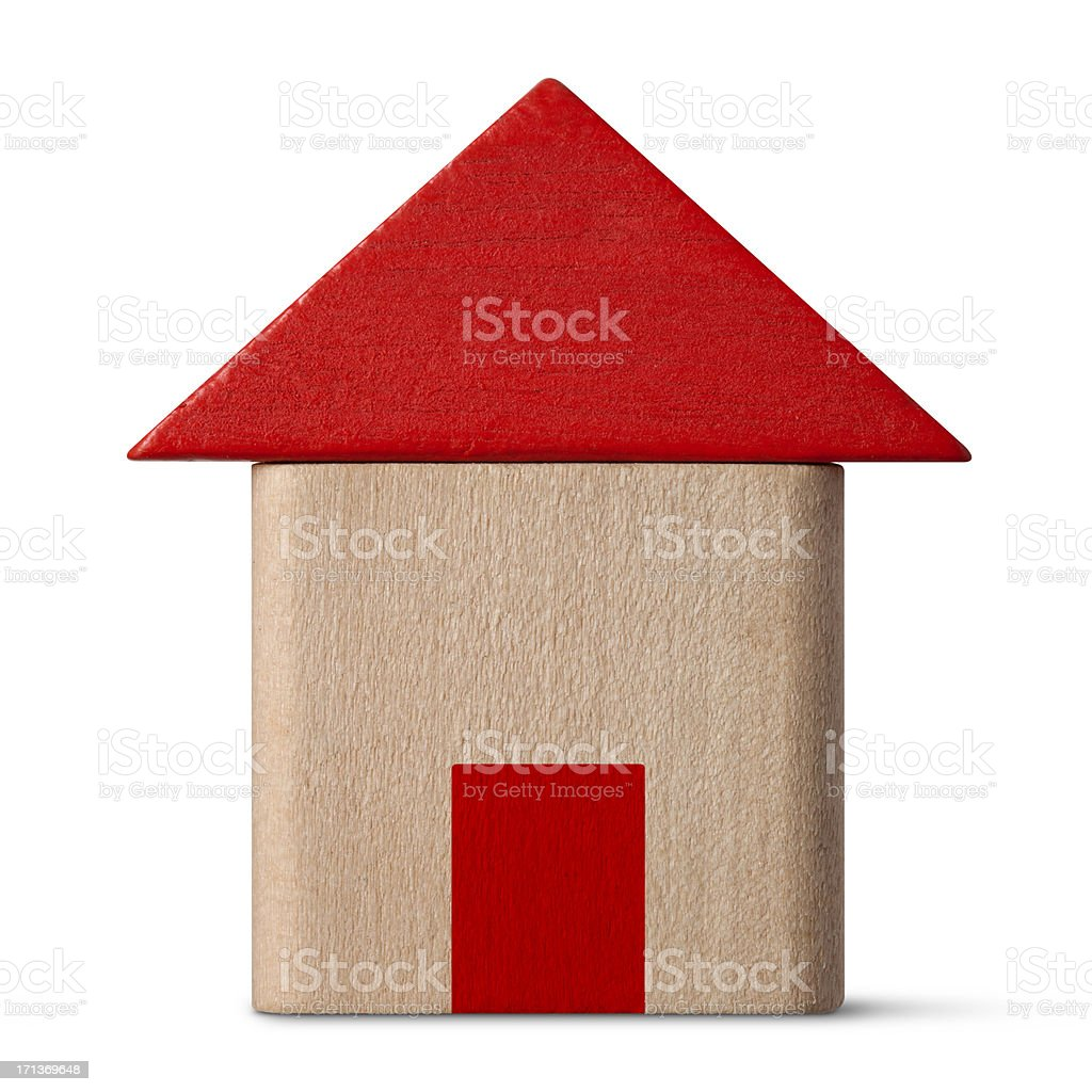 Wood block house royalty-free stock photo