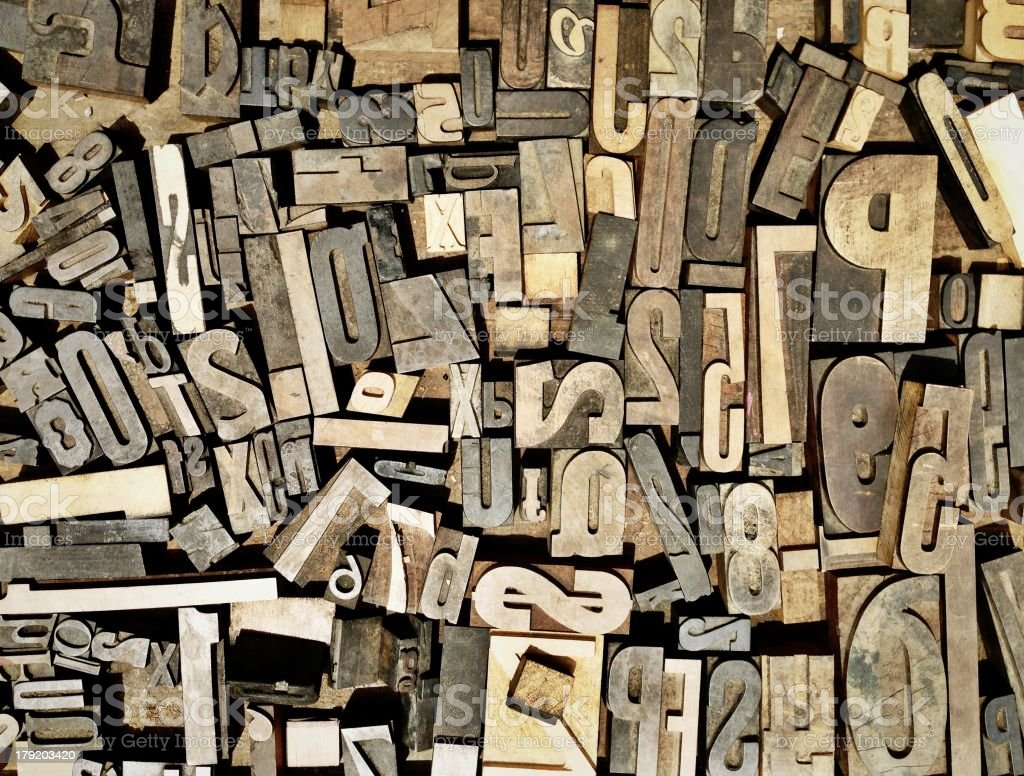 Wood block letters royalty-free stock photo