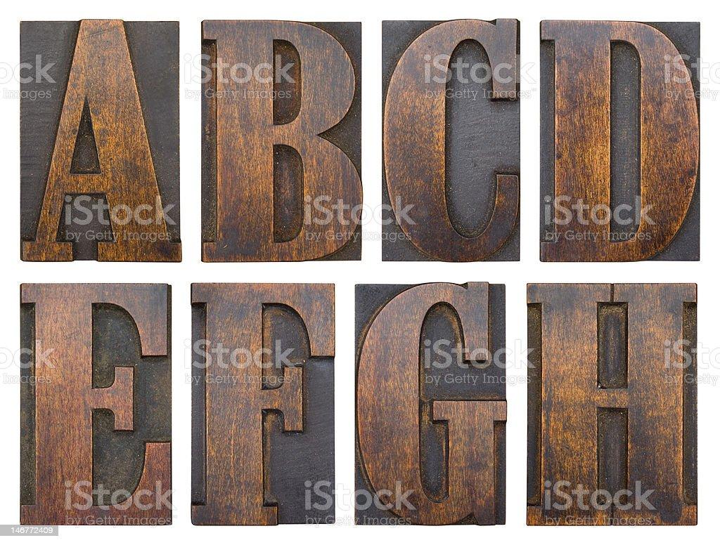 Wood block stock photo