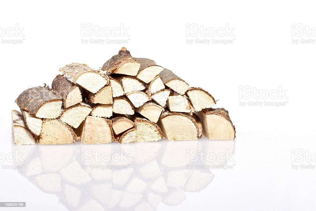 Wood blocks on a white background royalty-free stock photo