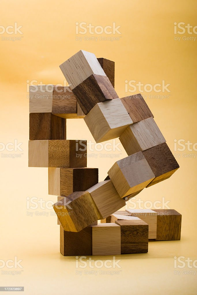Wood blocks royalty-free stock photo