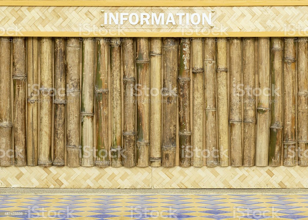 wood board with bamboo frame stock photo