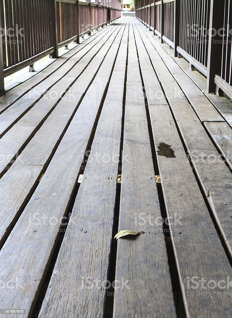wood bridge background royalty-free stock photo