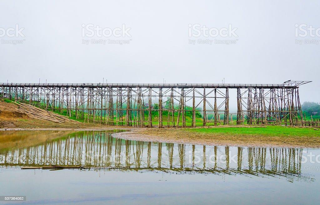 Wood Bridge Construction stock photo