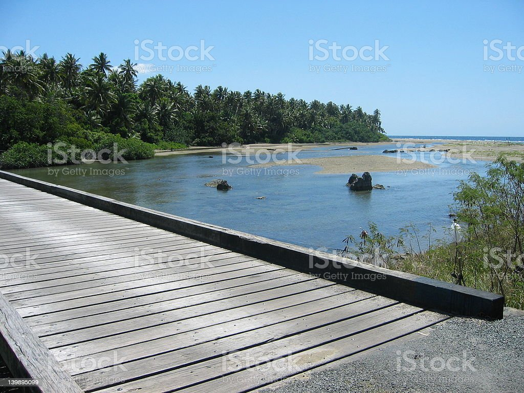 Wood bridge royalty-free stock photo