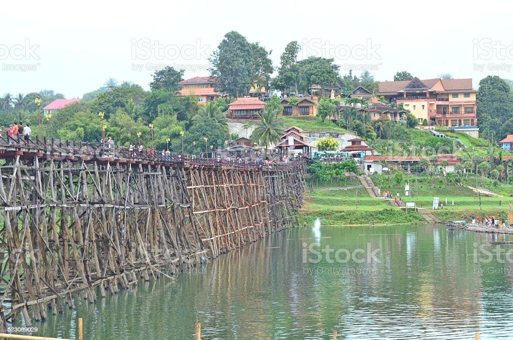 Wood Bridge. stock photo
