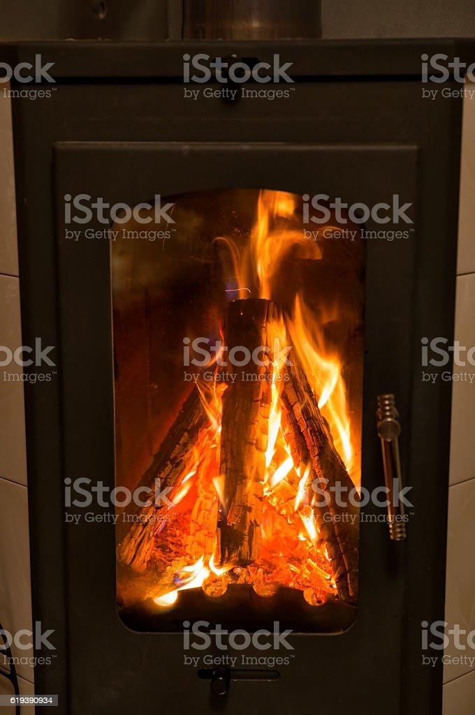 Wood burning oven stock photo