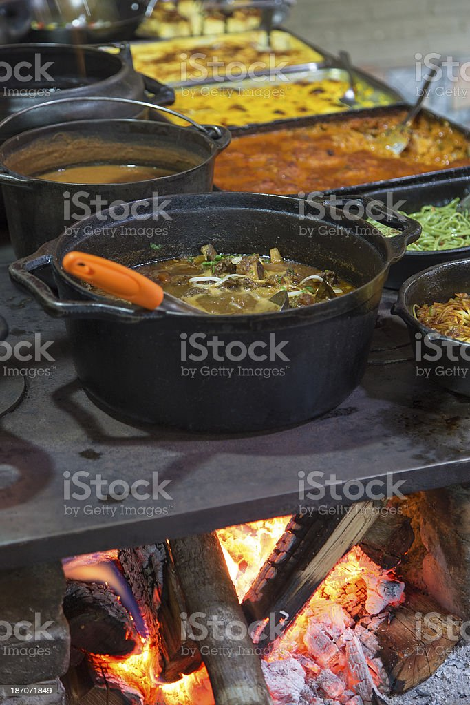Wood burning stove royalty-free stock photo