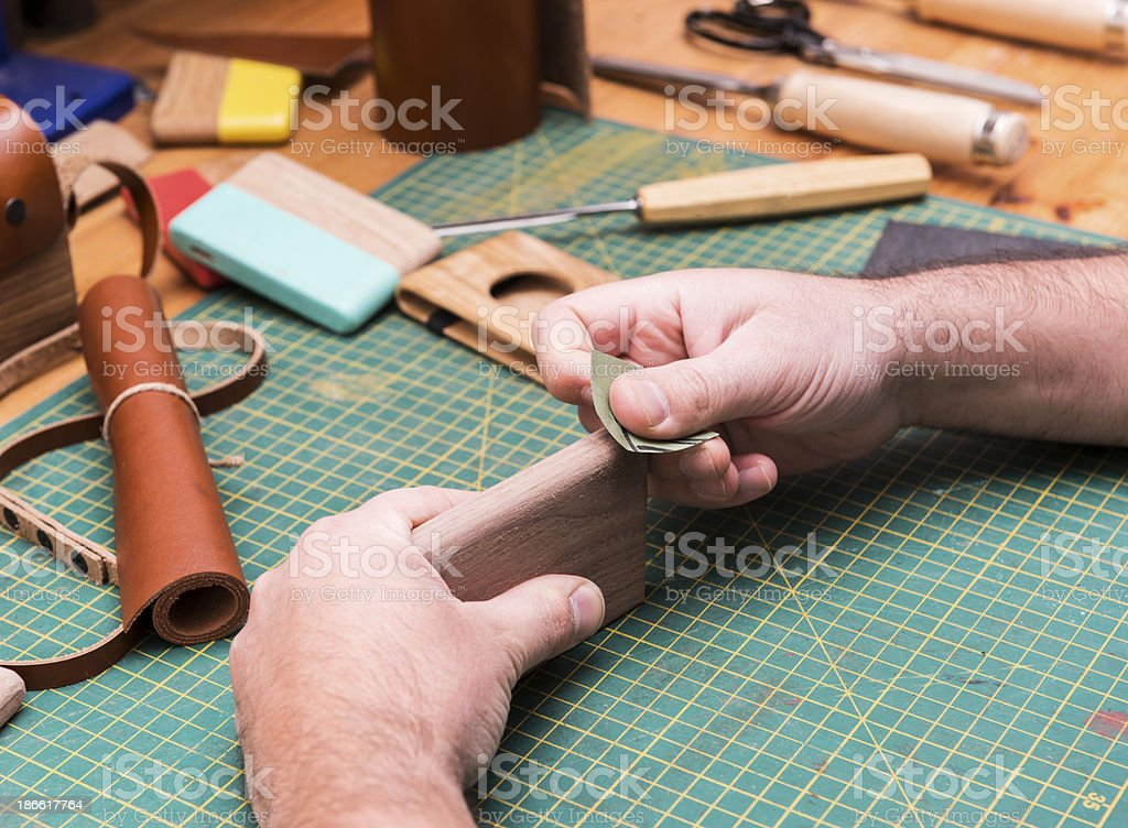 wood carver royalty-free stock photo