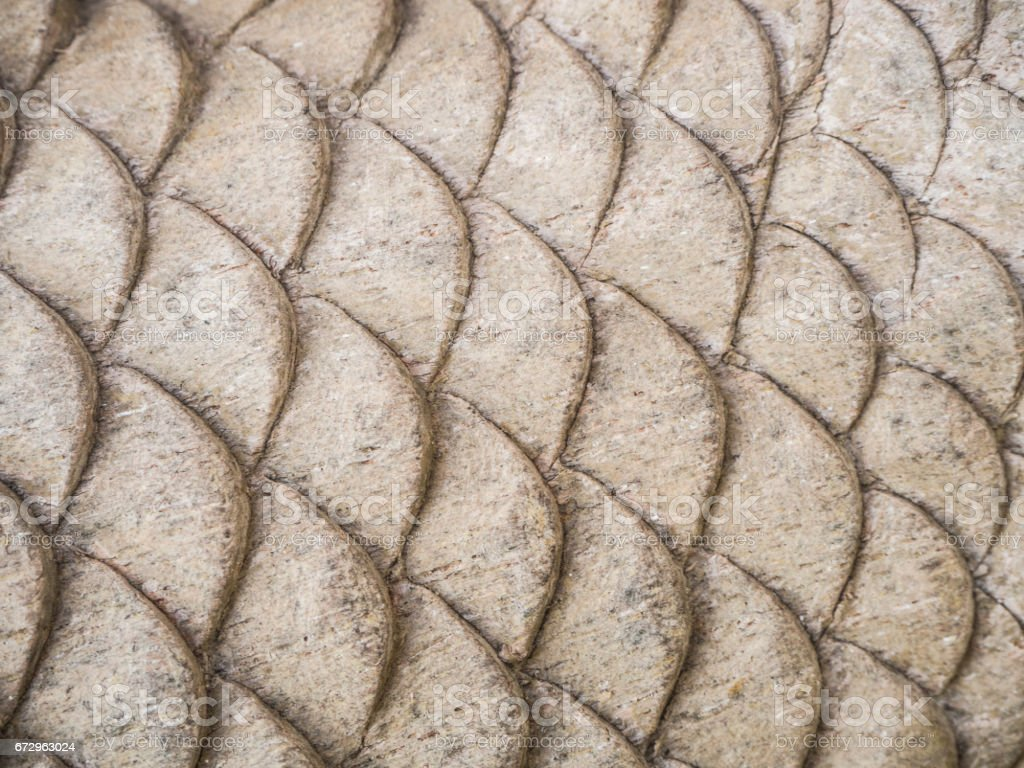 Wood carving fish shape stock photo
