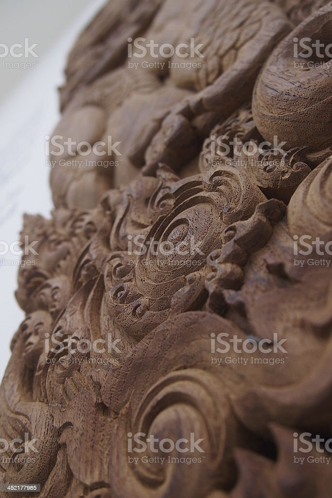KRANOK wood carving. stock photo