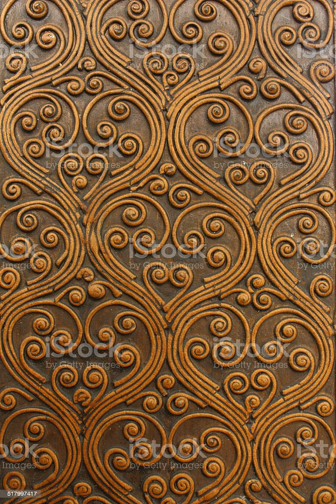 wood carvings stock photo