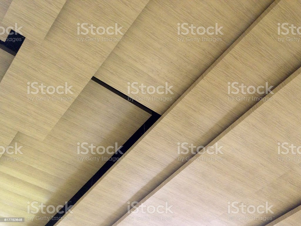 Wood Ceiling stock photo