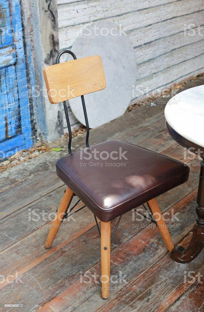 Wood Chair. stock photo