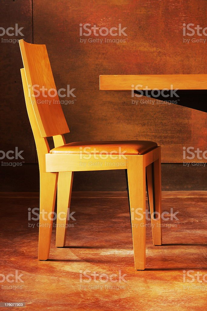 Wood Chair Table Home Decor royalty-free stock photo