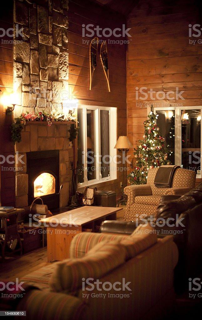 Wood Chalet stock photo