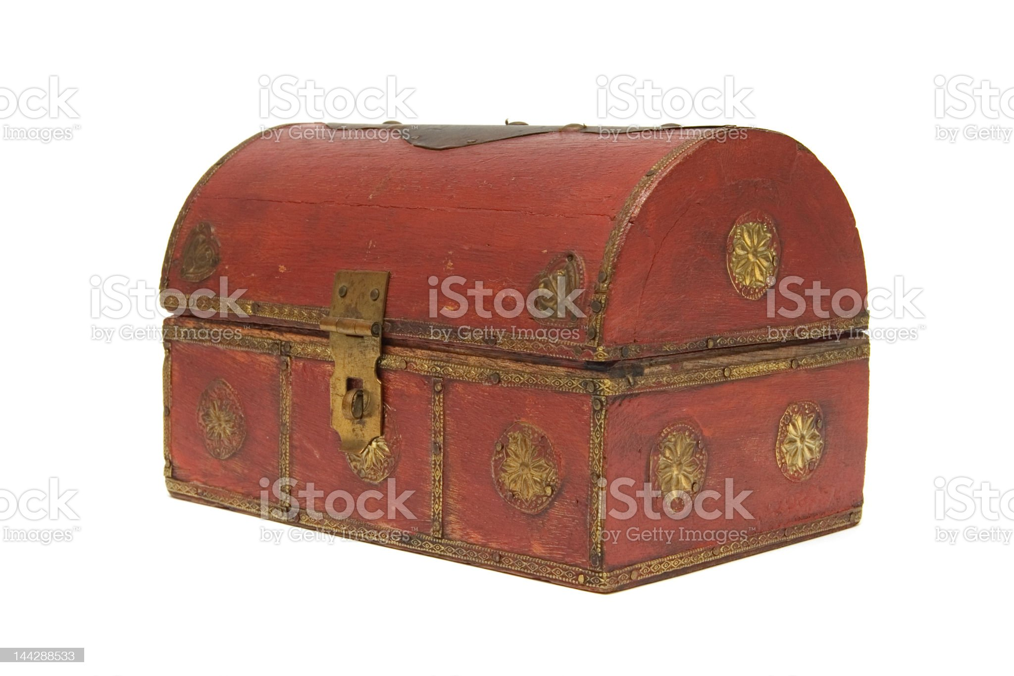 Wood chest royalty-free stock photo