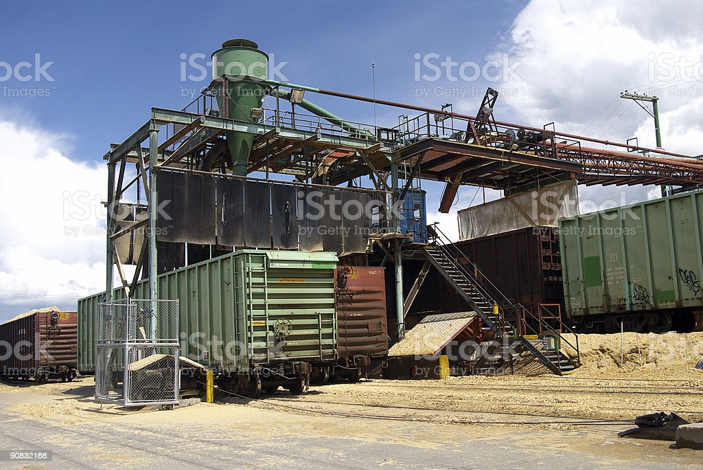 Wood Chip Loading Facility royalty-free stock photo