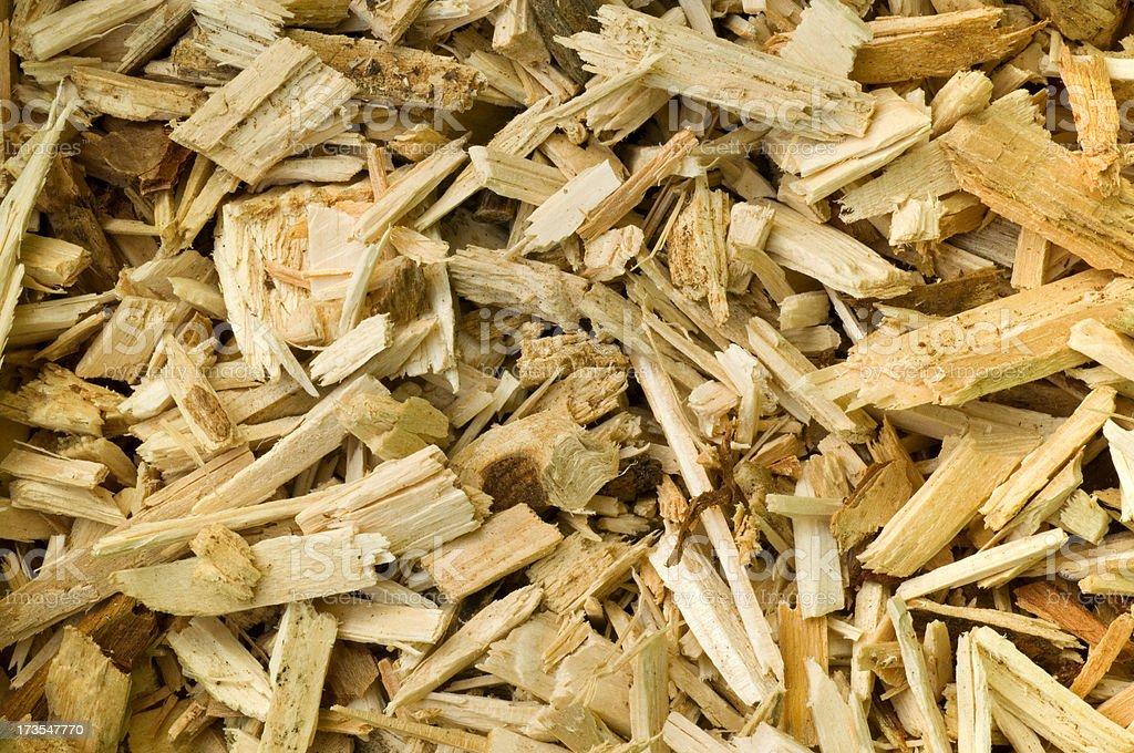 Wood chip stock photo