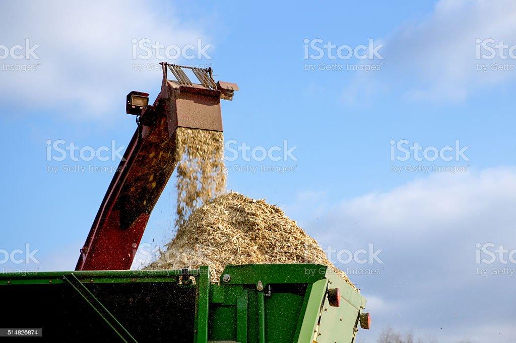 Wood chipper machine stock photo