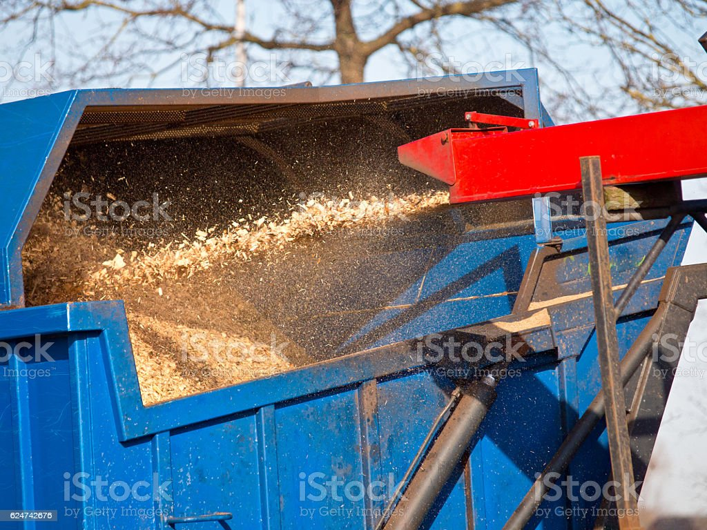Wood Chipper stock photo