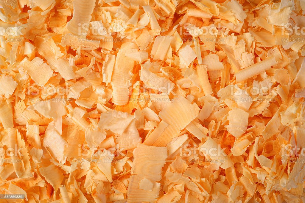 wood chippings stock photo