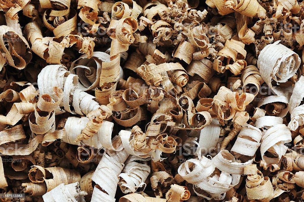 Bois des chips photo libre de droits