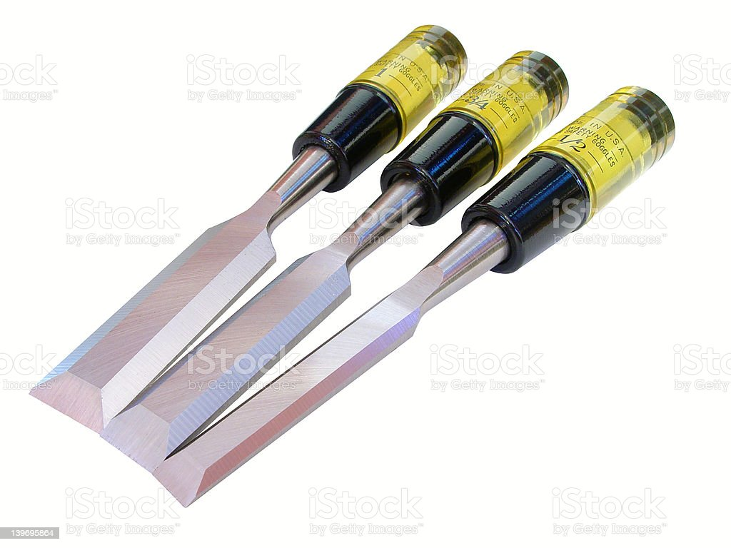 Wood Chisels stock photo