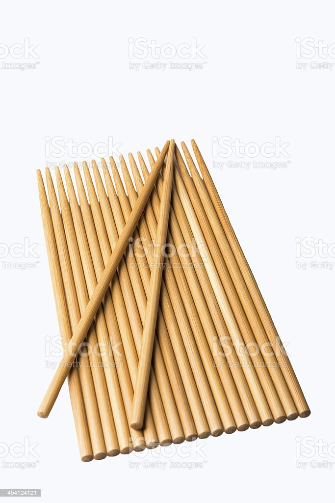 wood chopsticks royalty-free stock photo