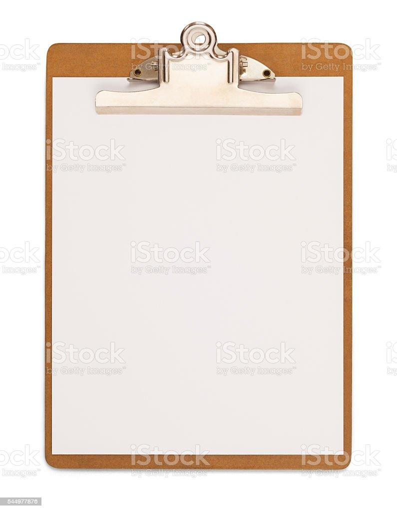Wood Clipboard stock photo